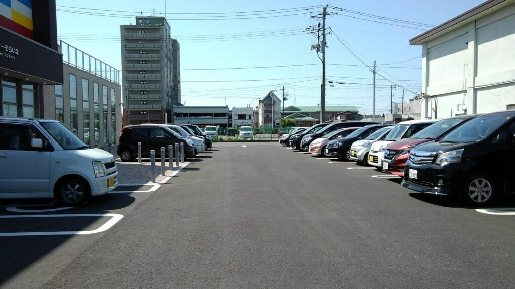 そらいえの駐車場