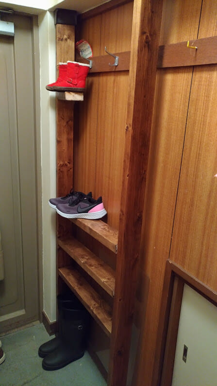 DIY 靴棚 玄関